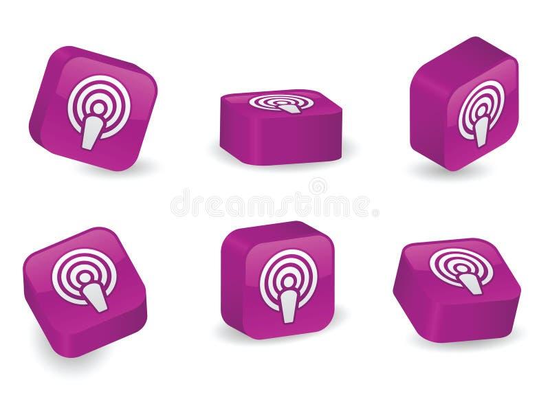 Download Three-Dimensional Podcast Blocks Stock Vector - Illustration: 16997184