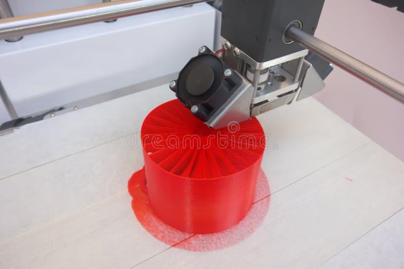 Three dimensional printing machine, modern 3D printer royalty free stock image