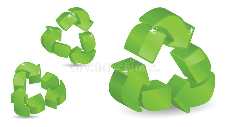 Download Three-Dimensional Recycling Symbols Stock Vector - Image: 16397860