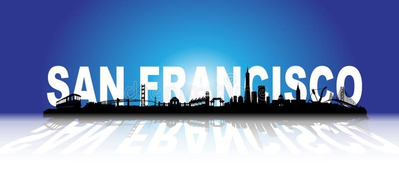 Three-dimensional San Francisco Skyline royalty free illustration