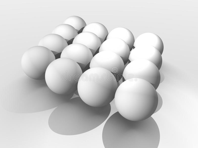 Download Three dimensional spheres stock illustration. Illustration of isolated - 13353458