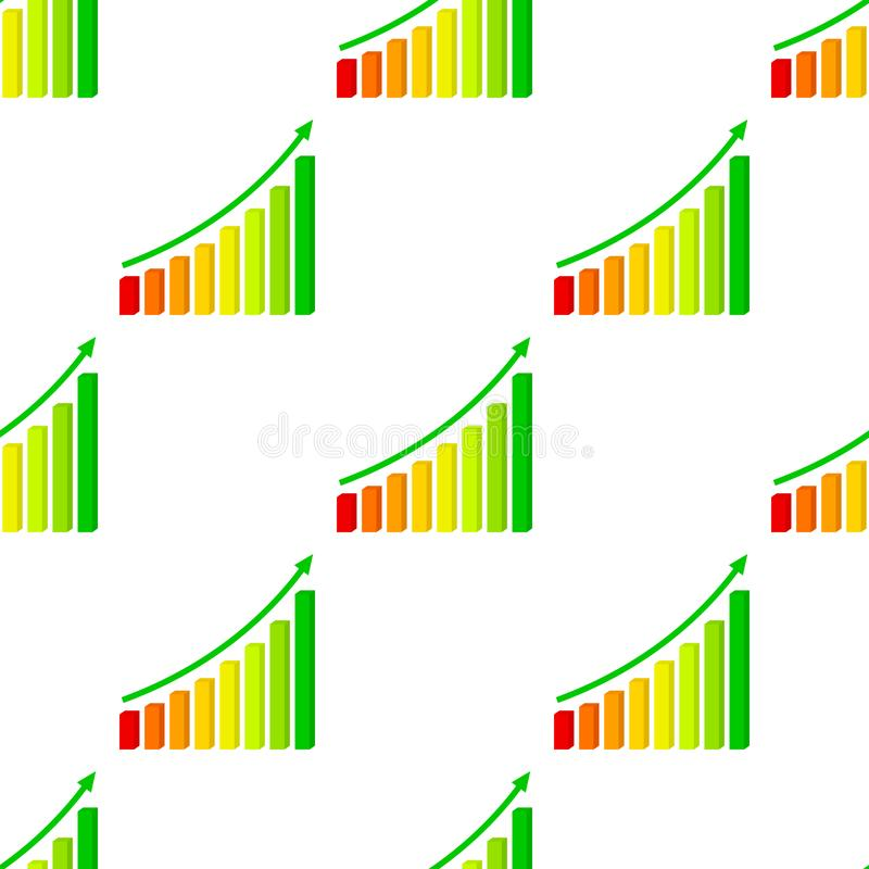 Three Dimensional Up Chart Seamless vector illustration