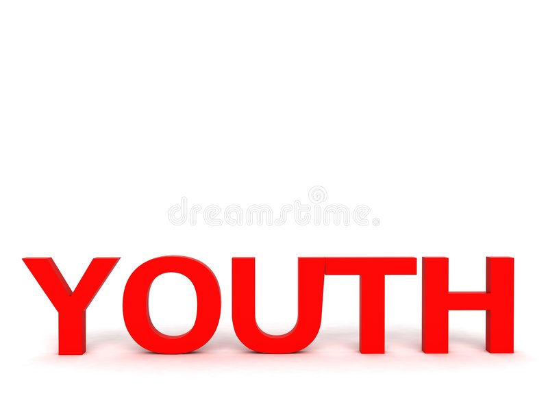 Three Dimensional Youth Text Stock Images