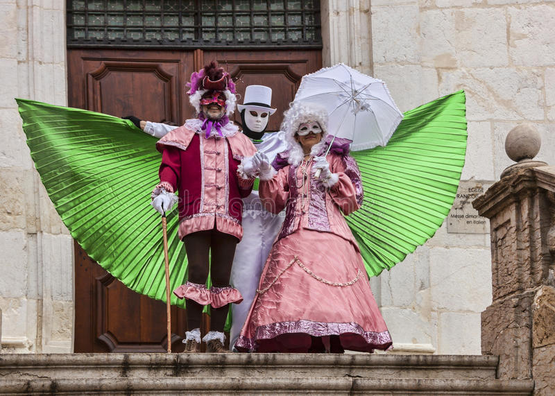 Download Three Disguised Persons editorial stock photo. Image of festival - 39162003