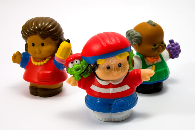 Three dolls 1 royalty free stock image