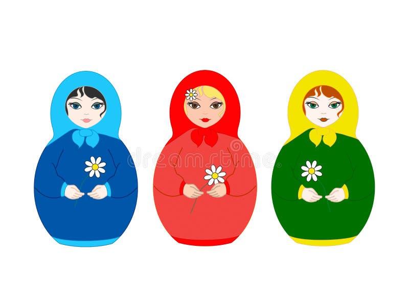 Three Dolls Matryoshka Stock Image