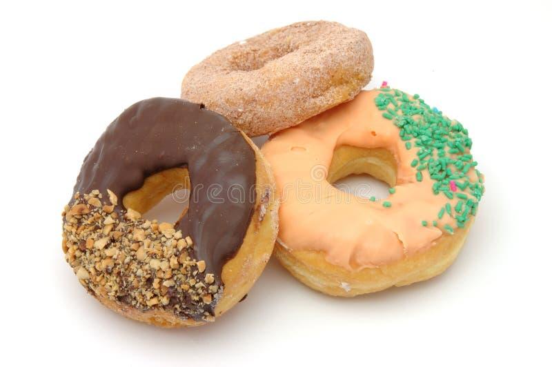 Three donuts royalty free stock photography