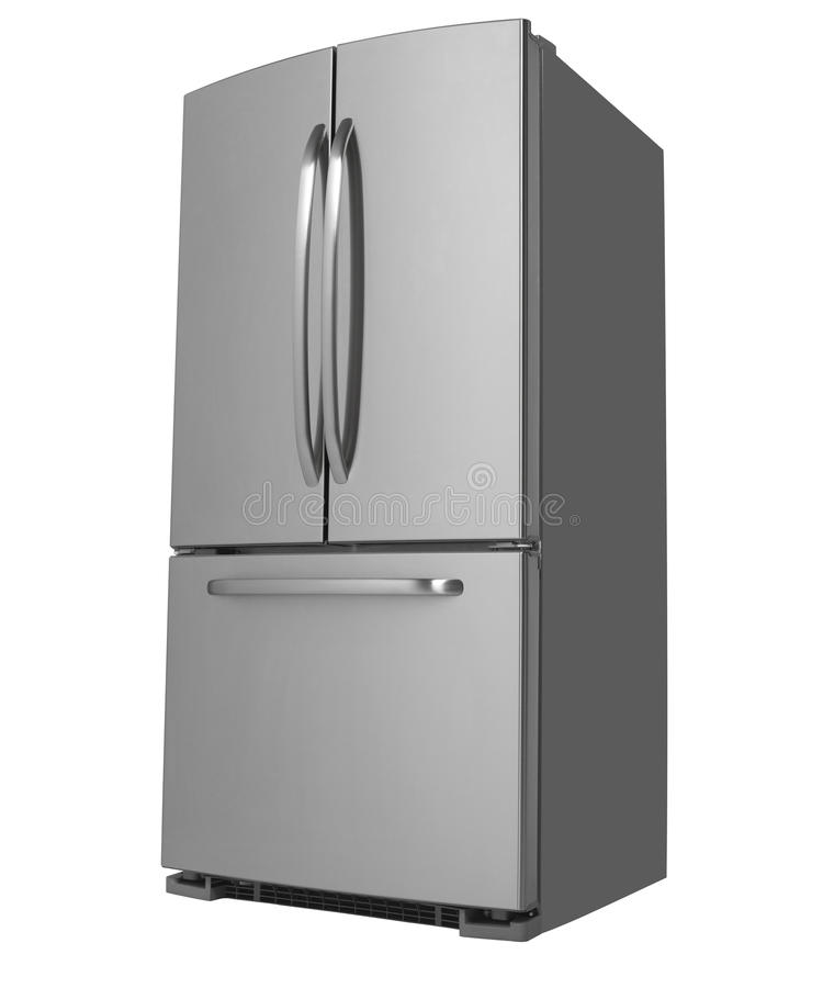 Free Three Door Refrigerator Facing Left Stock Photos - 22614953