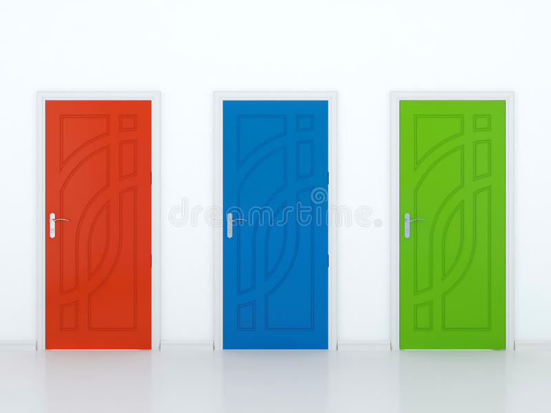 Three Doors Stock Image