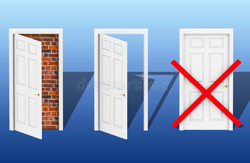 Download The three doors stock illustration. Image of home, close - 39031804