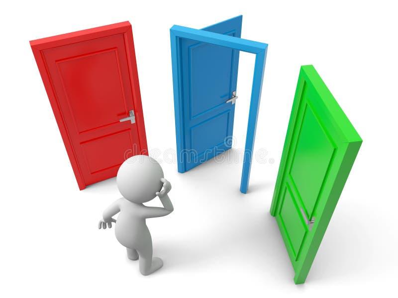 Download Three doors stock illustration. Illustration of icon - 30988324