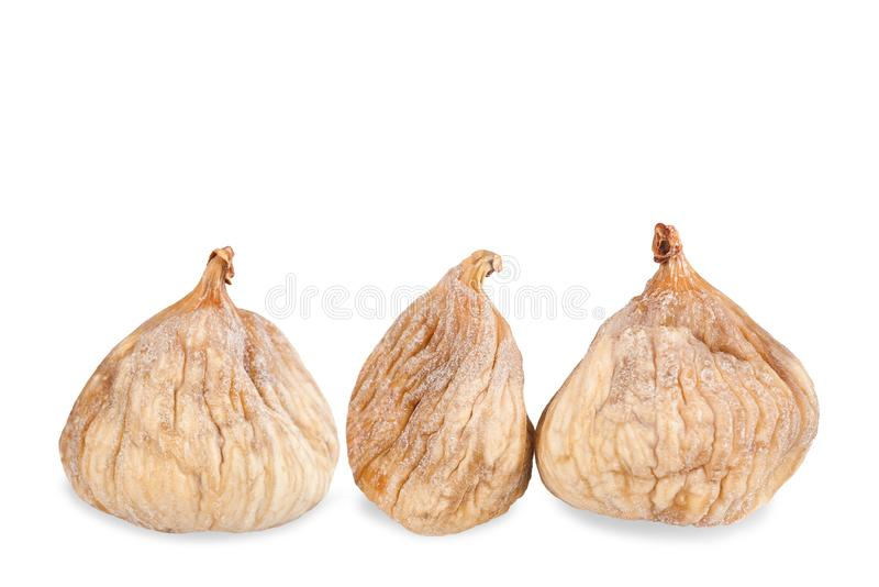 Three  dried figs royalty free stock photography