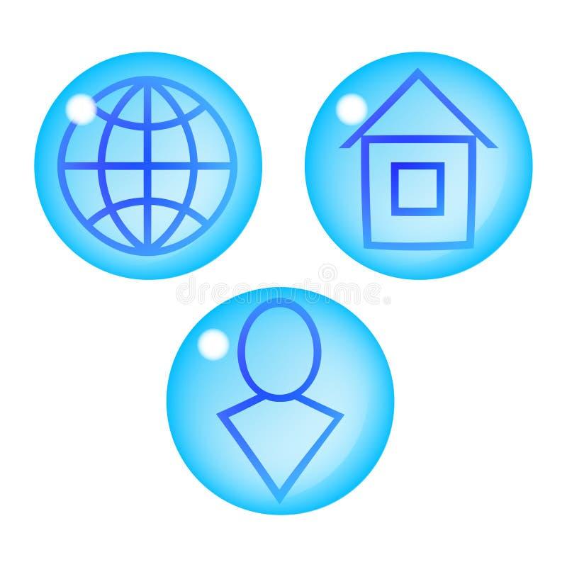 Three drops icons. vector illustration