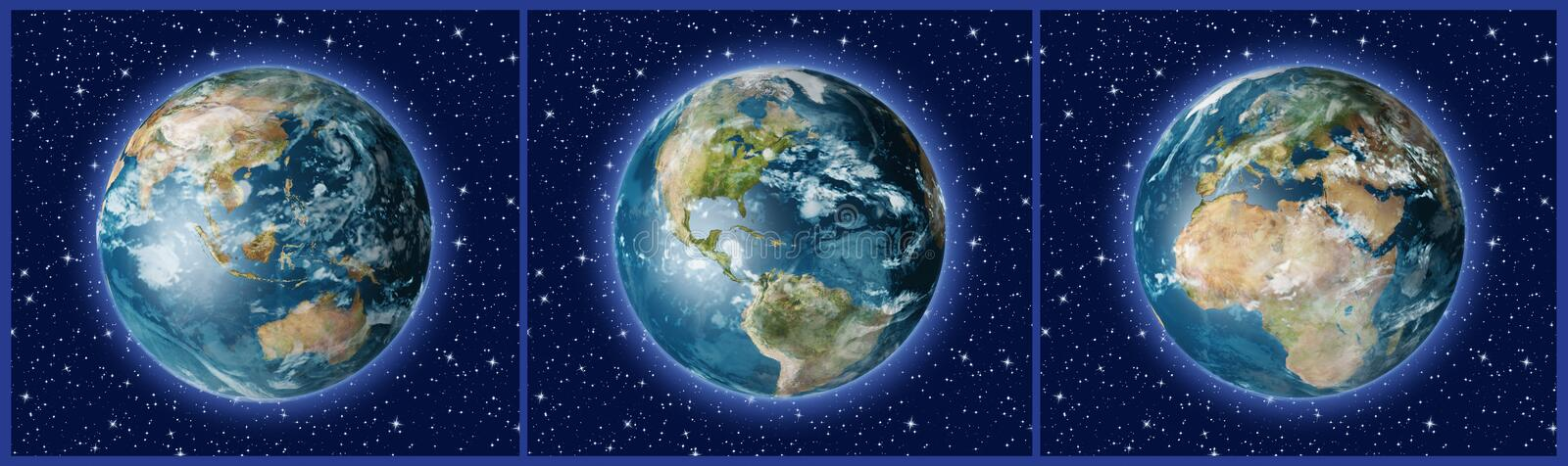 Download Three Earths A stock illustration. Image of australia - 3227428