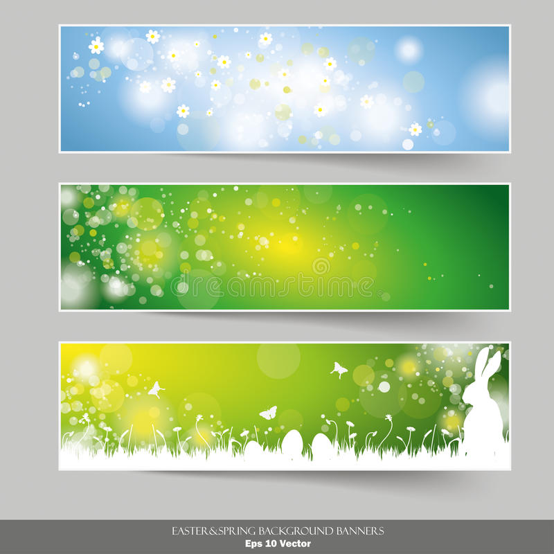 Three Easter Banners stock illustration