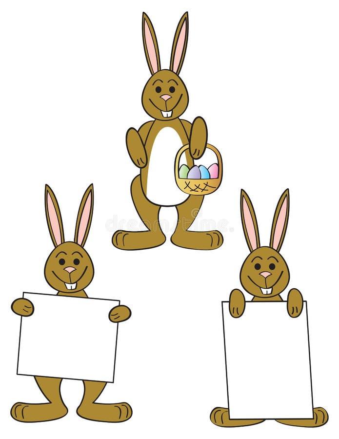 Download Three Easter Bunnies stock vector. Image of rabbit, cartoon - 23579086