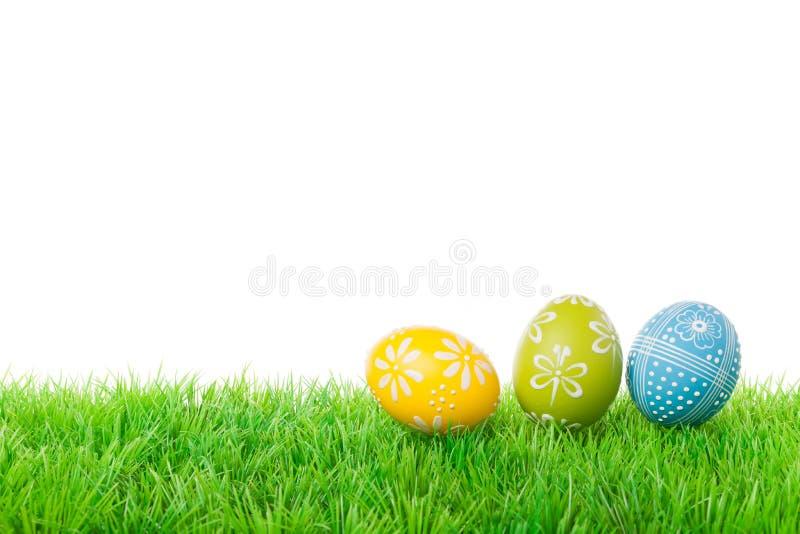 Three easter eggs royalty free stock photos