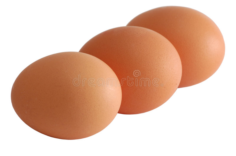 Download Three Eggs Isolated On White With Clipping-path Included Stock Photos - Image: 1921823