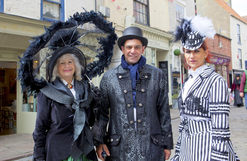 Download Three Elegant Participants On Whitby Gothic Weekend. Editorial Stock Photo - Image: 30708448