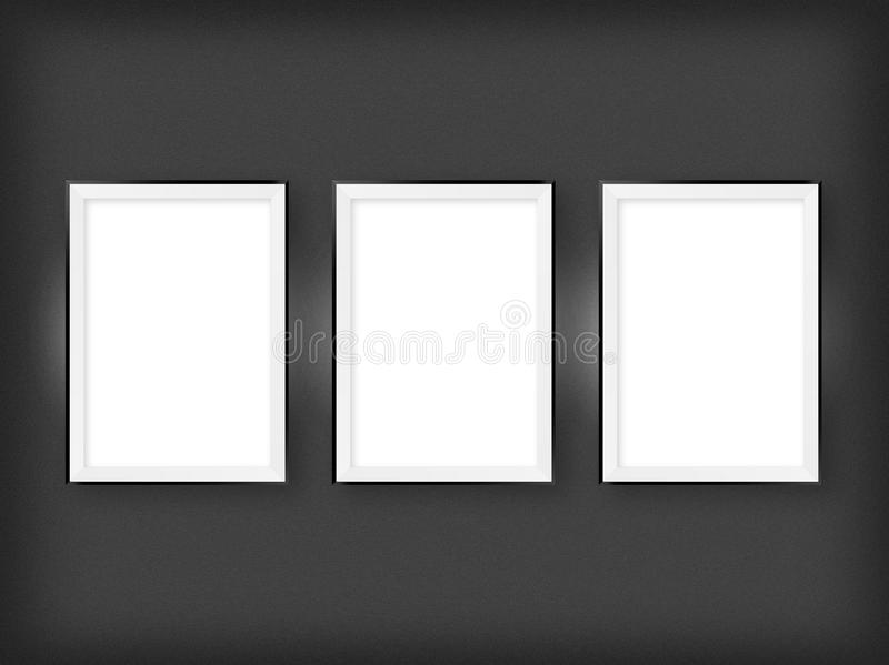 Download Three Empty Frames On A Wall Stock Illustration - Image: 31826806