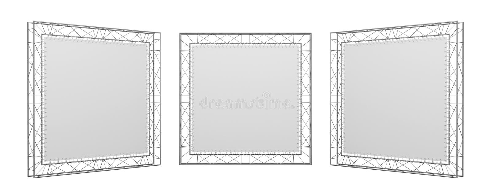 Download Three exhibition stands stock illustration. Image of banner - 25063561