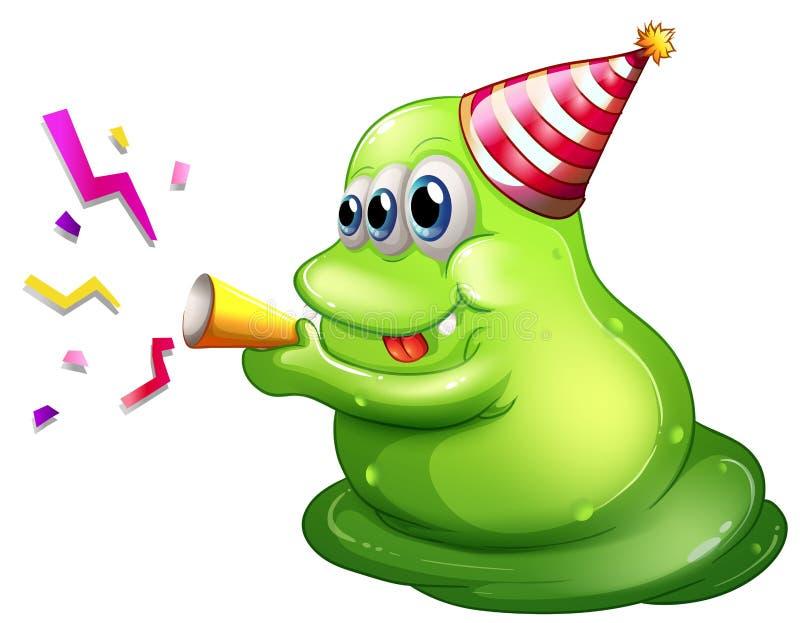 Download A Three-eyed Monster Celebrating Stock Illustration - Image: 33908793