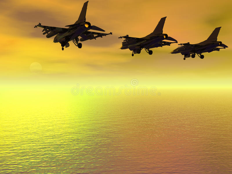 Download Three F-16 Fighter Jets Royalty Free Stock Photos - Image: 17794218