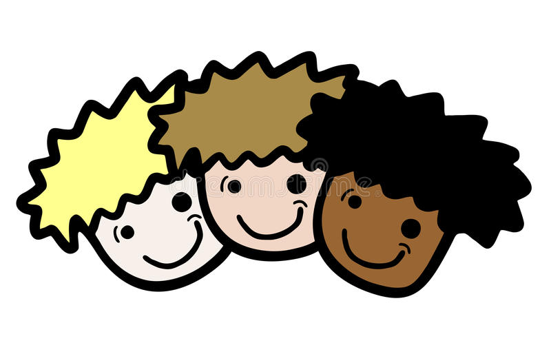 Download Three faces stock vector. Image of friends, caste, animation - 28097631