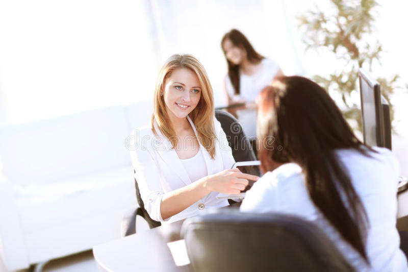 Three female colleagues stock photography