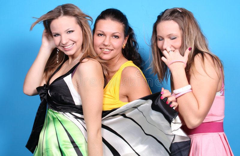 Download Three Female Friends Together Stock Photo - Image: 7561130
