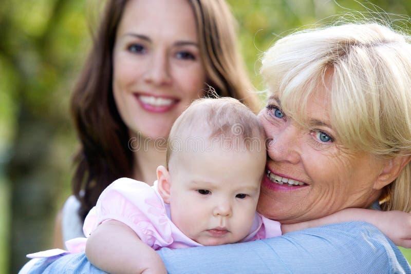 Three female generations royalty free stock photography