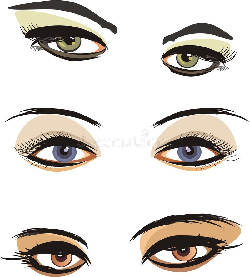 Download Three female looks stock vector. Image of eyelids, cosmetology - 8162309