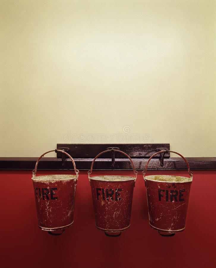 Download Three fire buckets stock photo. Image of safety, group - 25254738
