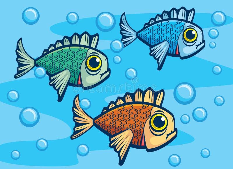 Three Fish stock illustration
