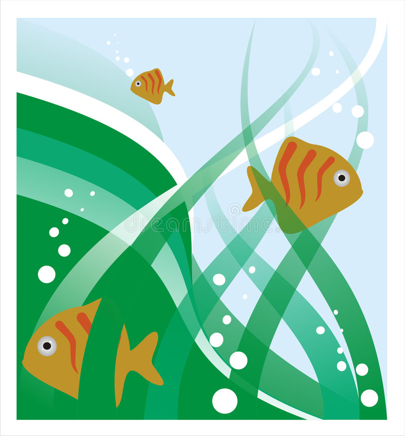 Download Three fishes stock illustration. Image of green, patterns - 2579302