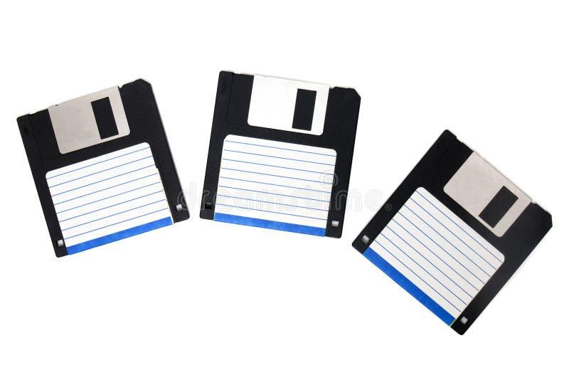 three floppy disks royalty free stock photography