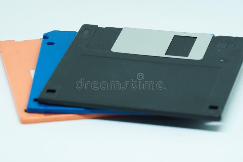 Three floppy disks or diskette stock photos