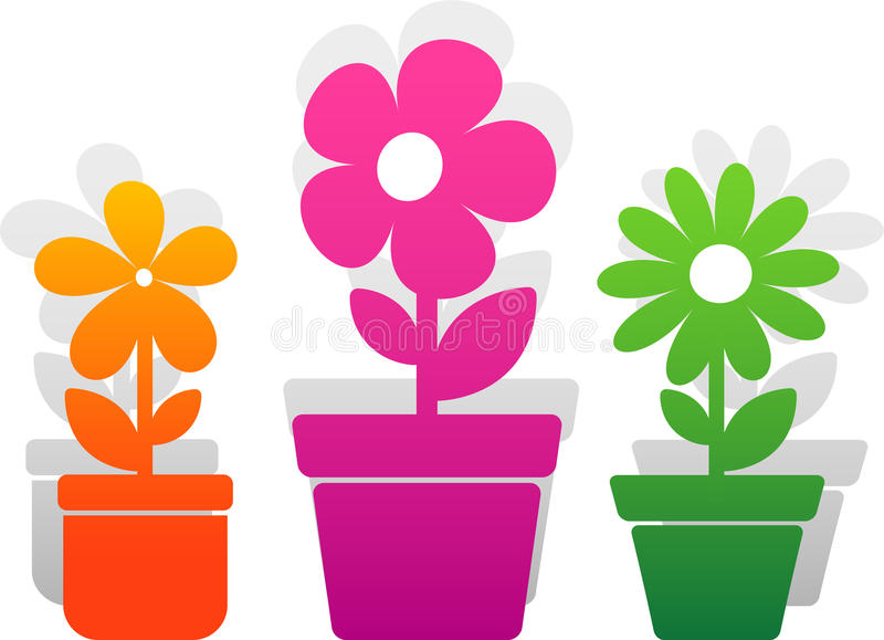 Download Three  flower stock vector. Illustration of floral, icon - 20589028
