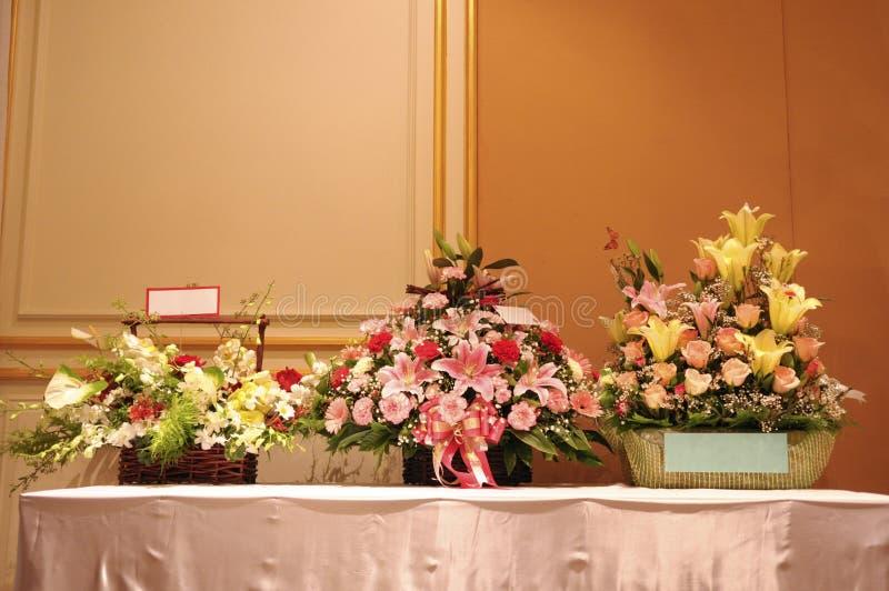 Three flower baskets