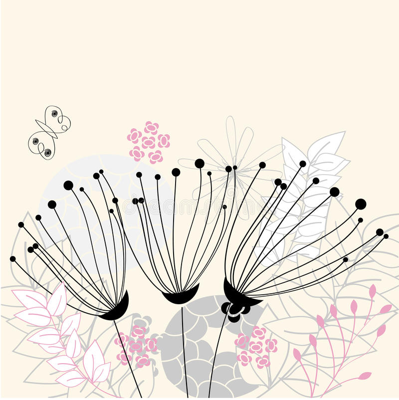 Three Flowers Royalty Free Stock Image