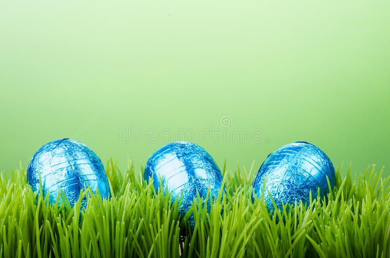 Download Three Foil Easter Eggs On Grass Stock Image - Image: 29475239
