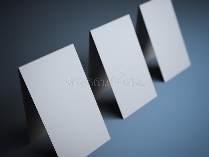 Three Folded Business Cards Stock Illustration - Illustration of ...