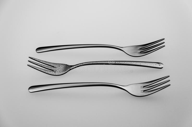 Three forks stock photos