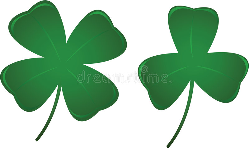 Download Three And Four Leaf Clovers Royalty Free Stock Image - Image: 8126536