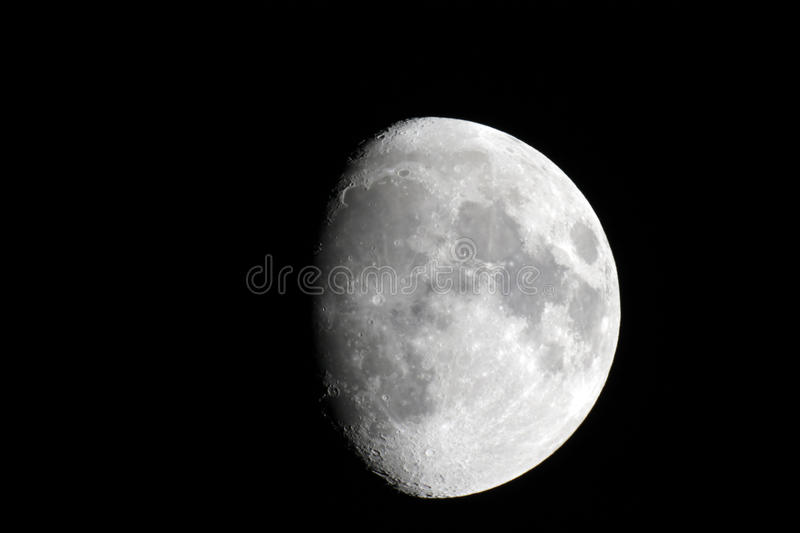 Three Fourth Of The Moon Phase Royalty Free Stock Photography