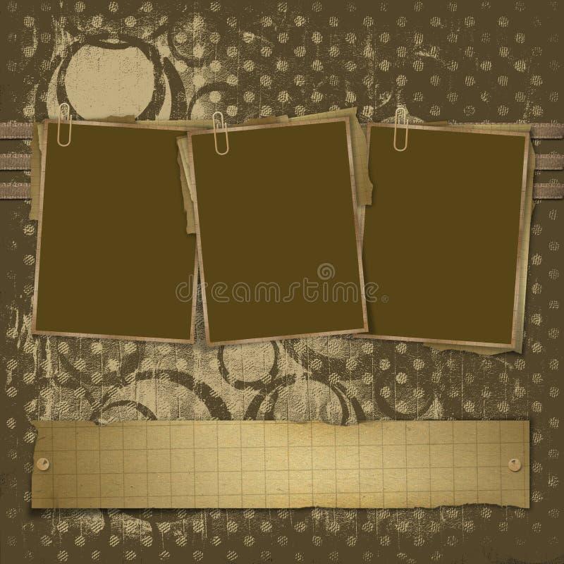 Three frameworks for photos vector illustration