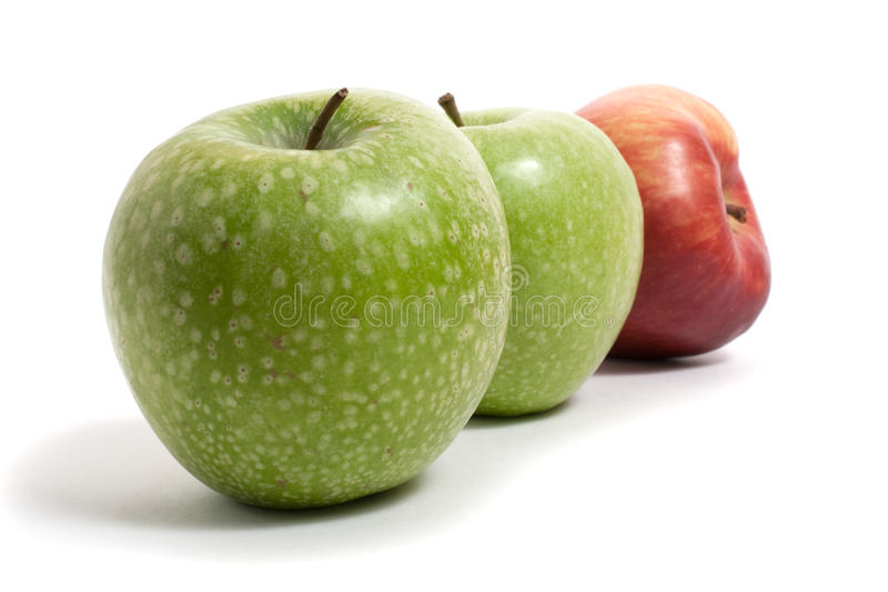 Download Three Fresh Apples In A Row Stock Photo - Image: 12532642
