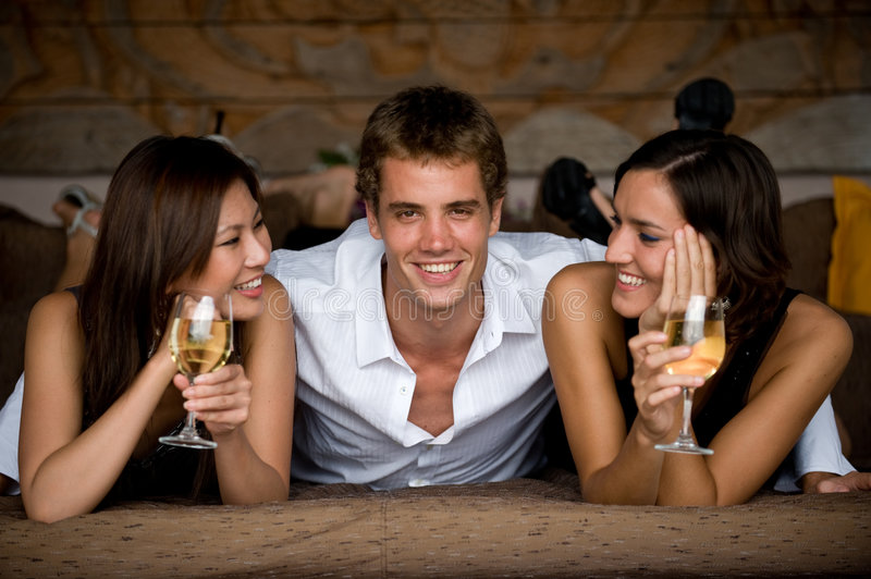 Three Friends stock images