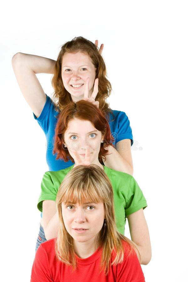 Download Three Friends stock photo. Image of background, ladies - 9925898