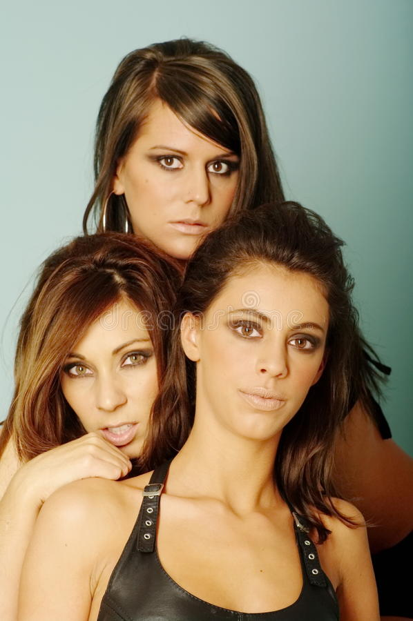 Three Friends Woman stock images